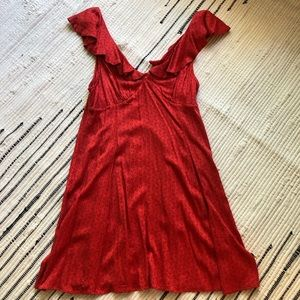 Red UO mini dress